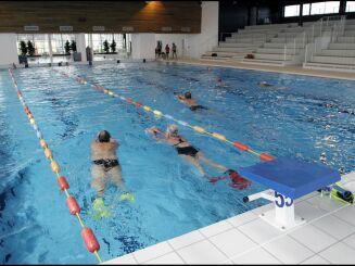 Le grand bassin de natation de la piscine de Cherbourg