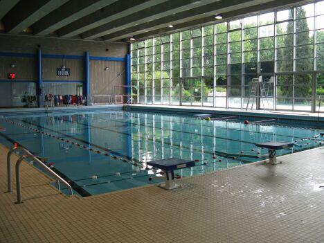 """Le grand bassin de natation de la piscine de Lomme<span class=""""normal italic petit"""">DR</span>"""