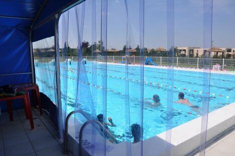 Le sas chauffé de la piscine de Neuville de Poitou