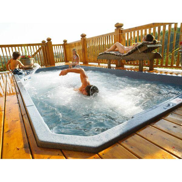 Spa de nage acrylique par clair azur for Spa nage contre courant exterieur