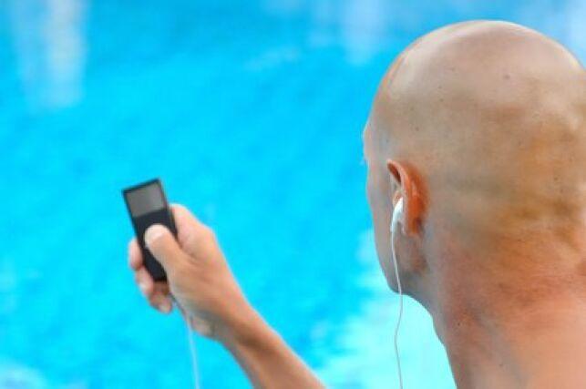 Lecteur MP3 étanche pour la piscine