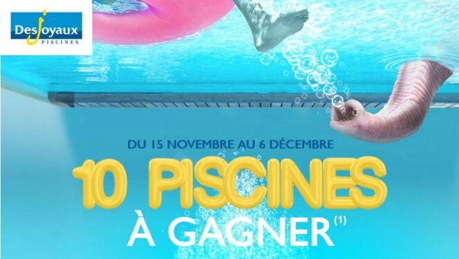 """Les 50 ans hallucinants de Desjoyaux : gagnez peut-être votre piscine !<span class=""""normal italic petit"""">© Piscine Desjoyaux</span>"""