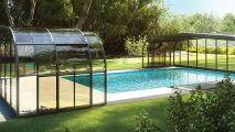 Manipulation facilitée pour les abris de piscine Rideau