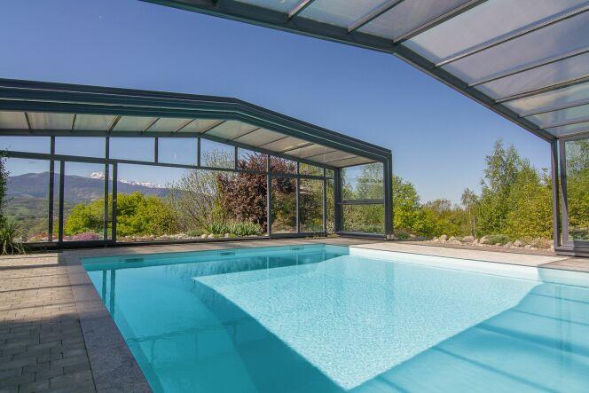 Abri de piscine haut 3 angles Maestro - Télescopique sur mesure