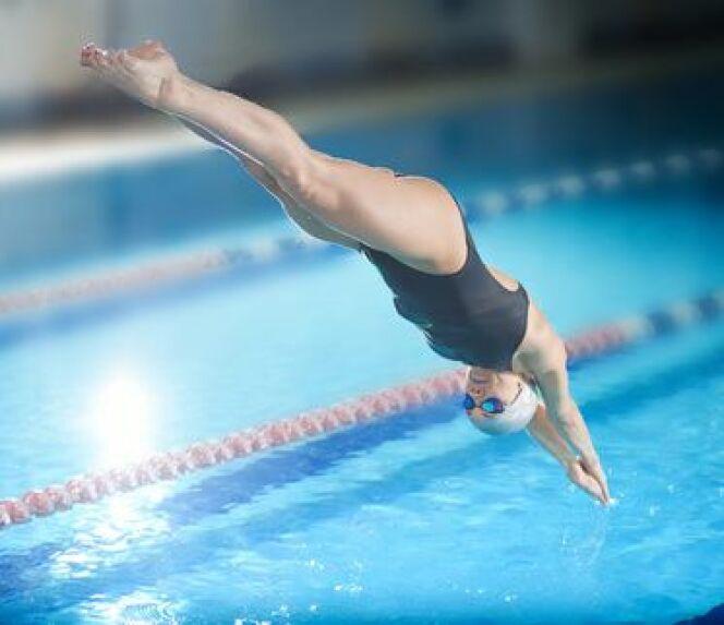 """Les compétitions de plongeon<span class=""""normal italic petit"""">DR</span>"""