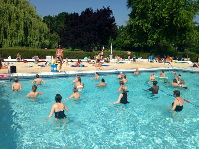 Les cours d'aquagym à la piscine d'Antony