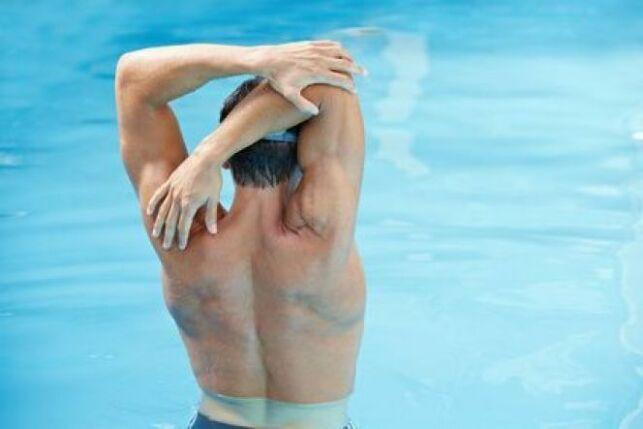 Les différentes parties du corps à échauffer avant de nager