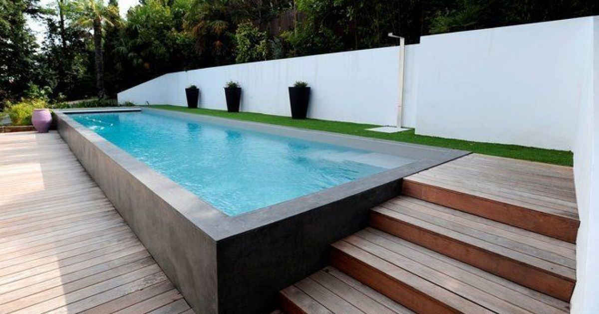 Les diff rents types de piscines semi enterr es - Piscine hors sol a debordement ...