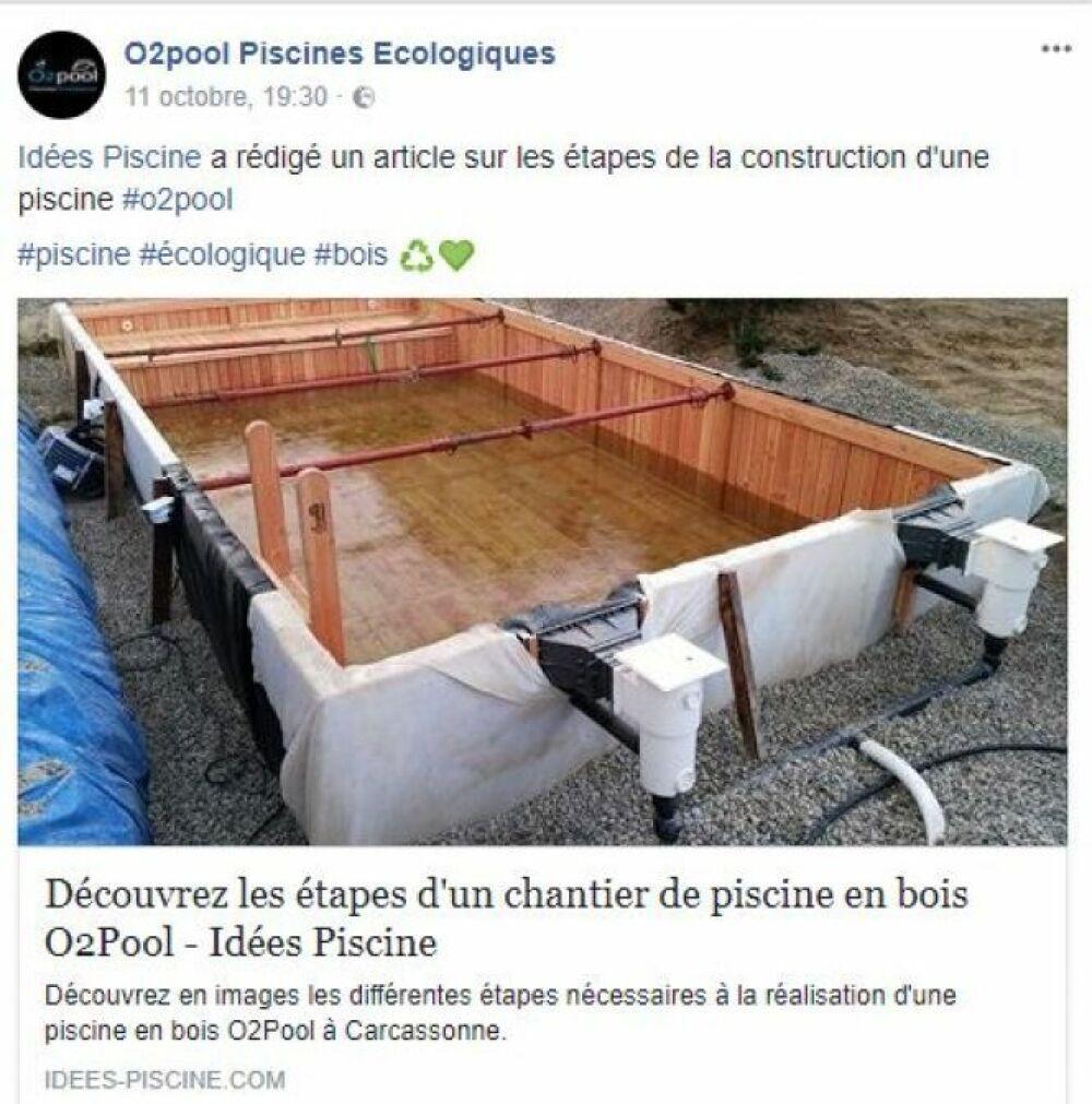 Les étapes de la construction d'une piscine© Page Facebook O2 Pool