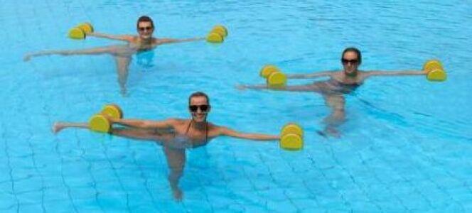 "Les exercices d'aquagym pour maigrir<span class=""normal italic petit"">© american911 - Fotolia.com</span>"