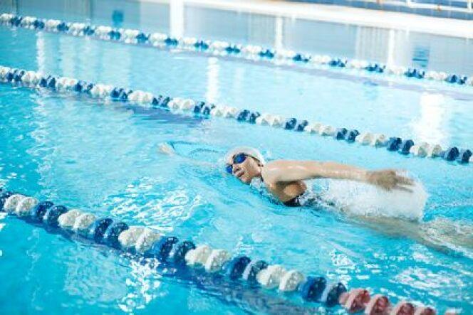 """Les lignes de nage en piscine municipale<span class=""""normal italic petit"""">DR</span>"""
