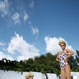 Maillots de bain femme blancs imprimés violets Maryan Mehlhorn