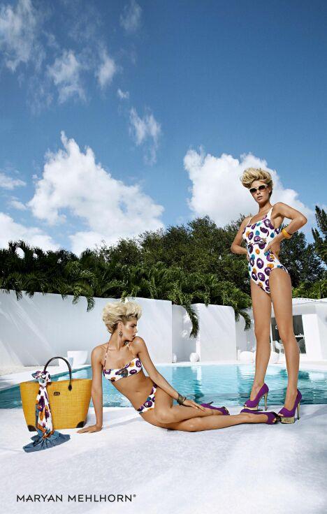 "Les maillots de bain imprimés Martinez Drops par Maryan Mehlhorn (été 2013)<span class=""normal italic petit"">© Maryan Mehlhorn</span>"