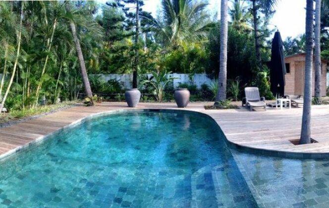 Les piscines en forme d'amande  © Piscines Marinal