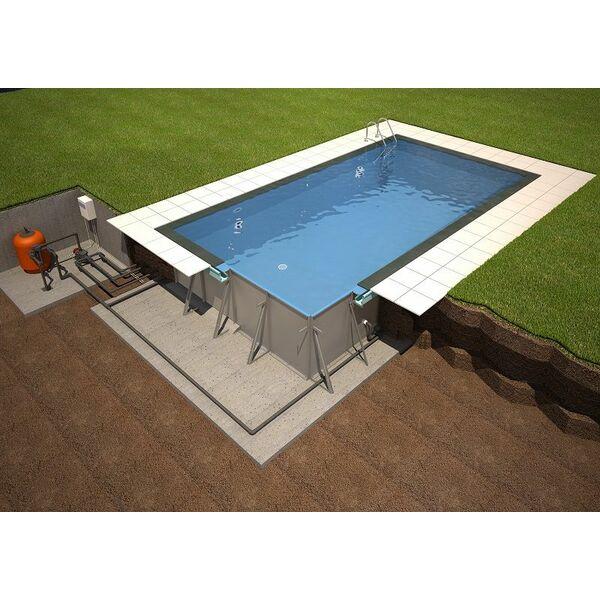 Les piscines miroir de soleo par rp industries for Kit piscine miroir