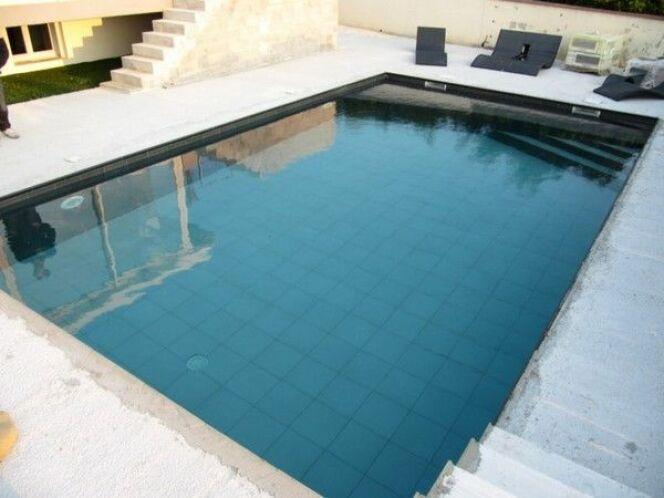 Les plus belles piscines avec du carrelage les plus for Revetement piscine beton cire