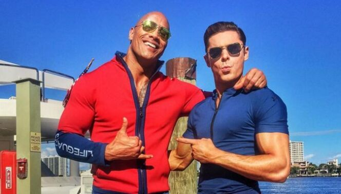 Dwayne Johnson et Zach Efron