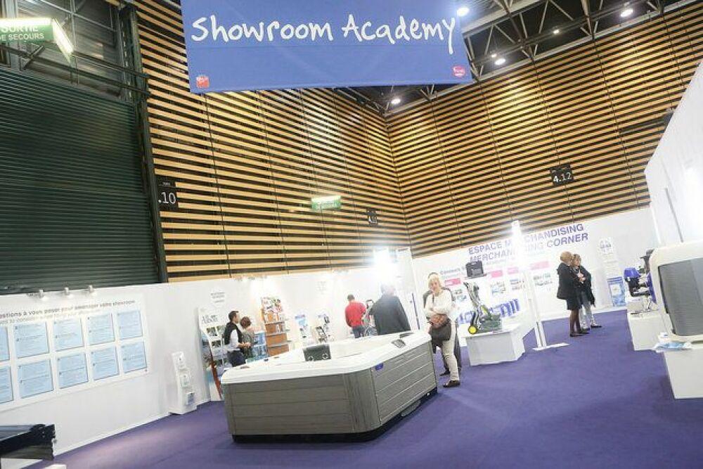 Les showrooms prennent de plus en plus d'importance, en témoigne le succès du Showroom Academy au Salon Piscine Global.© Piscine Global 2014