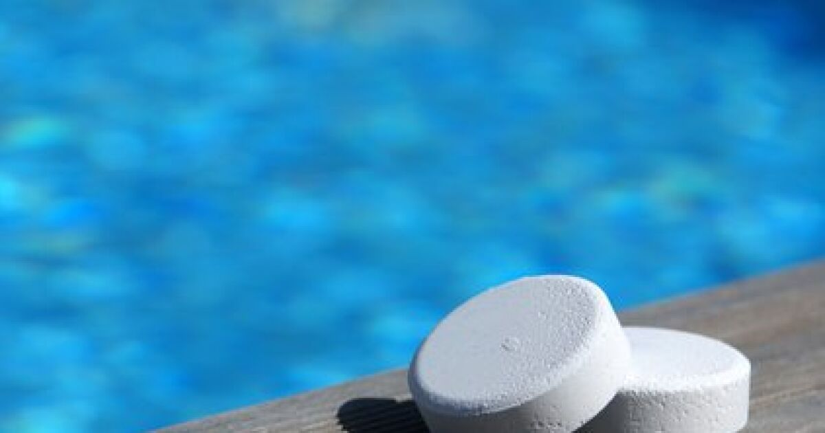 chlore piscine jardin sur enperdresonlapin