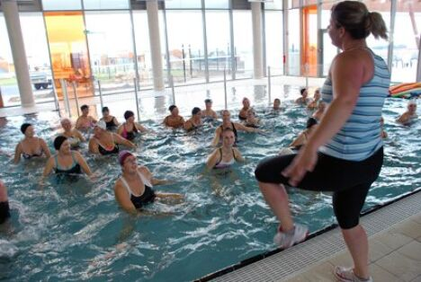 """Les cours d'aquagym à la piscine Capoolco<span class=""""normal italic petit"""">DR</span>"""