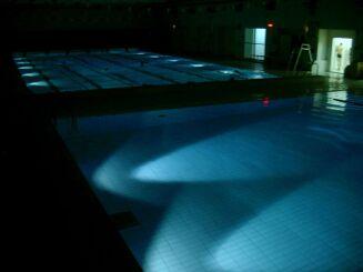 Les deux bassins de la piscine de Dammarie-Lès-Lys
