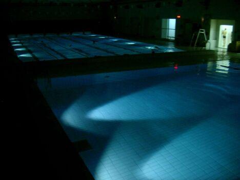 """Les deux bassins de la piscine de Dammarie-Lès-Lys<span class=""""normal italic"""">DR</span>"""