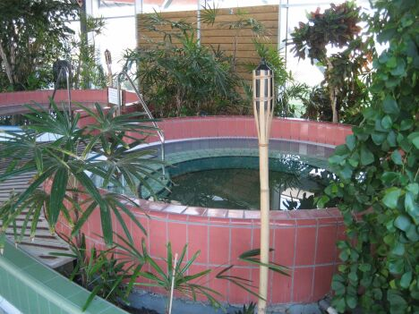 """Les jacuzzis du centre aquatique Cap vert - Les Herbiers<span class=""""normal italic petit"""">DR</span>"""