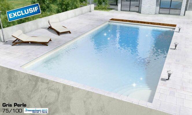 donnez de l clat votre piscine avec les liners nacr s. Black Bedroom Furniture Sets. Home Design Ideas