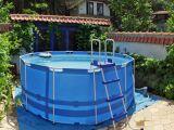 Le liner d'une piscine autoportée