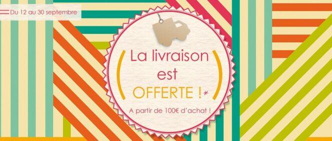 """Livraison offerte chez Desjoyaux !<span class=""""normal italic petit"""">© Desjoyaux</span>"""