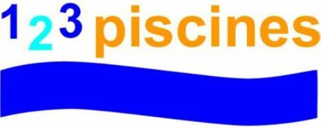 """Logo 1 2 3 piscines - fabricant de piscines... à votre image<span class=""""normal italic petit"""">DR</span>"""