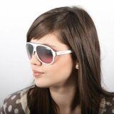 Lunettes de soleil femme blanches verres dégradés roses Carrera 2013