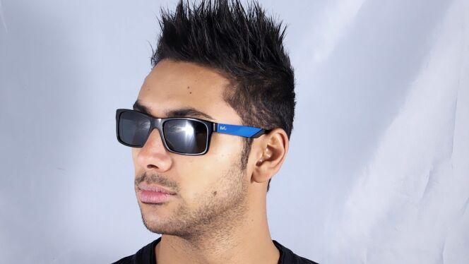 Lunettes de soleil homme Dolce&Gabbana noires et bleues été 2013