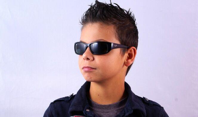 Lunettes de soleil noires garçon Ray-Ban junior été 2013