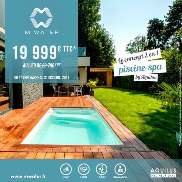 promotion sur la piscine m water d aquilus. Black Bedroom Furniture Sets. Home Design Ideas