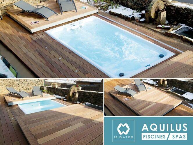 """M'Water : un nouveau concept de piscine hybride par Aquilus<span class=""""normal italic petit"""">© Aquilus Piscines et Spas</span>"""
