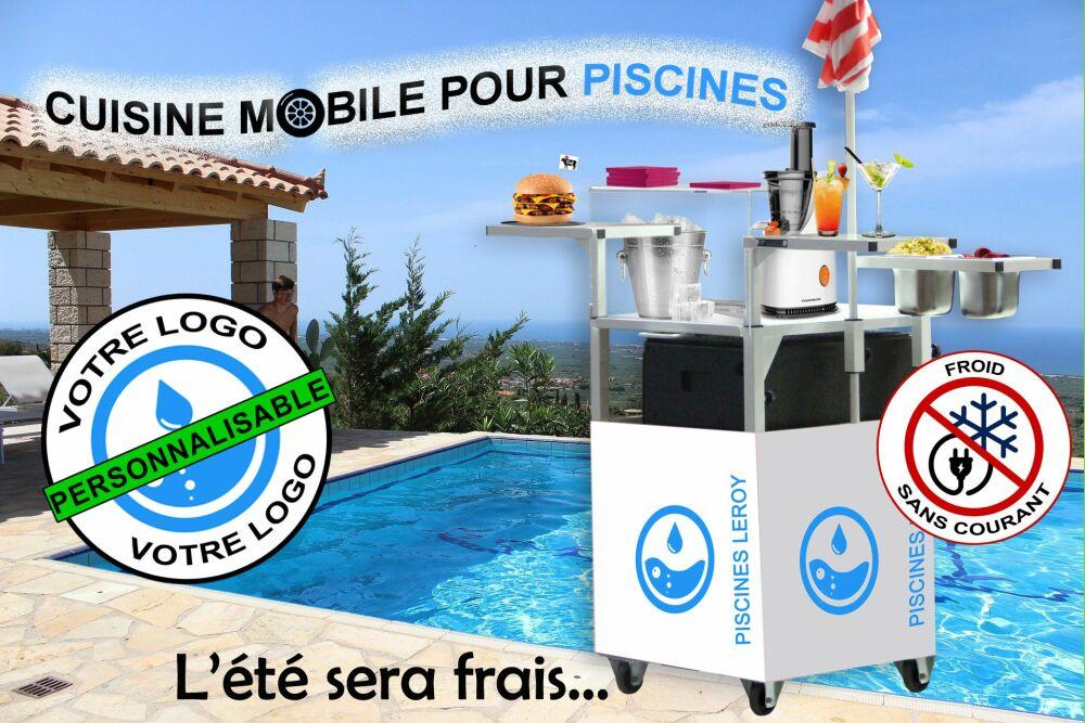 Ma Boutique Ambulante présente sa cuisine mobile pour piscine© Ma Boutique Ambulante
