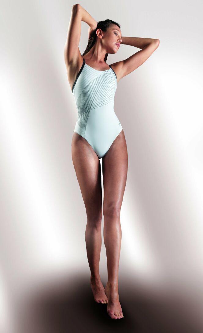Maillot de bain blanc une pièce modèle Magenta Arena Bodysensation© Arena