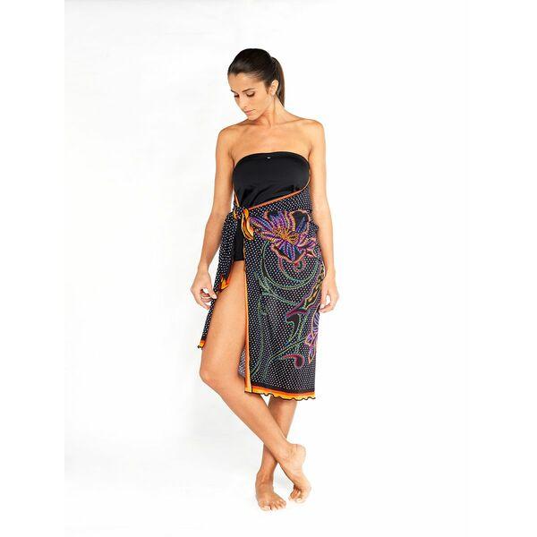 maillot de bain 1 pi ce encre avec jupe par o par tamana. Black Bedroom Furniture Sets. Home Design Ideas