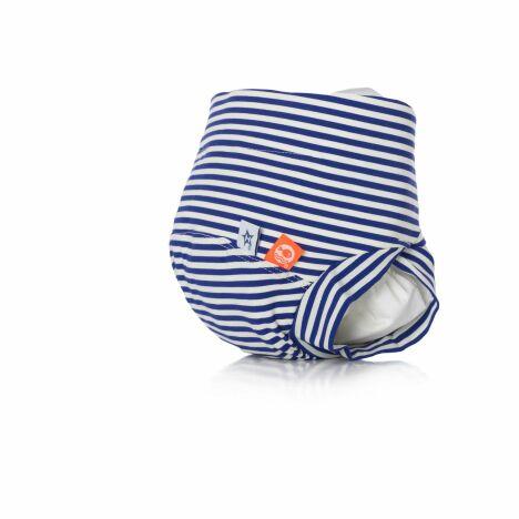 "Maillot de bain bébé anti-fuite à rayures modèle Marin Mousse Hamac<span class=""normal italic petit"">© Hamac</span>"