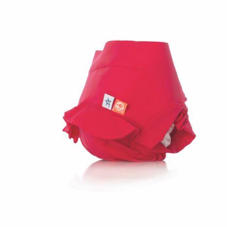 Maillot de bain bébé anti-fuite coloris framboise et frous-frous Hamac