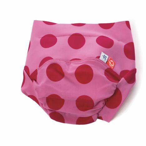 Maillot de bain bébé fille anti-fuite rose à pois modèle Chamallow Hamac
