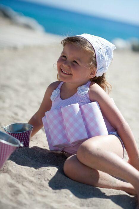 "Maillot de bain bouée bébé fille rose<span class=""normal italic petit"">© Noukies</span>"