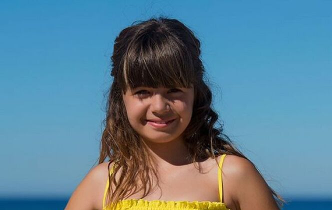 Maillot de bain deux pièces bandeau pour fille jaune, par Soraya © Soraya