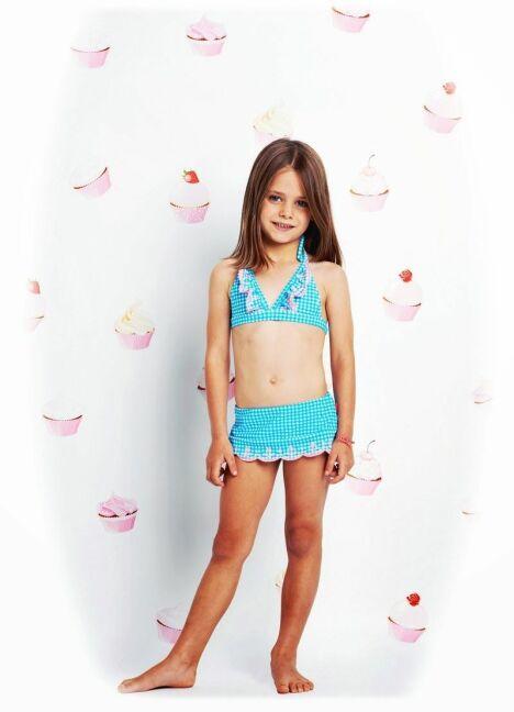 """Maillot de bain deux pièces enfant fille bleu<span class=""""normal italic petit"""">© Seafolly</span>"""