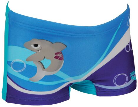 "Maillot de bain enfant garçon, bleu motif requin<span class=""normal italic petit"">© Arena</span>"