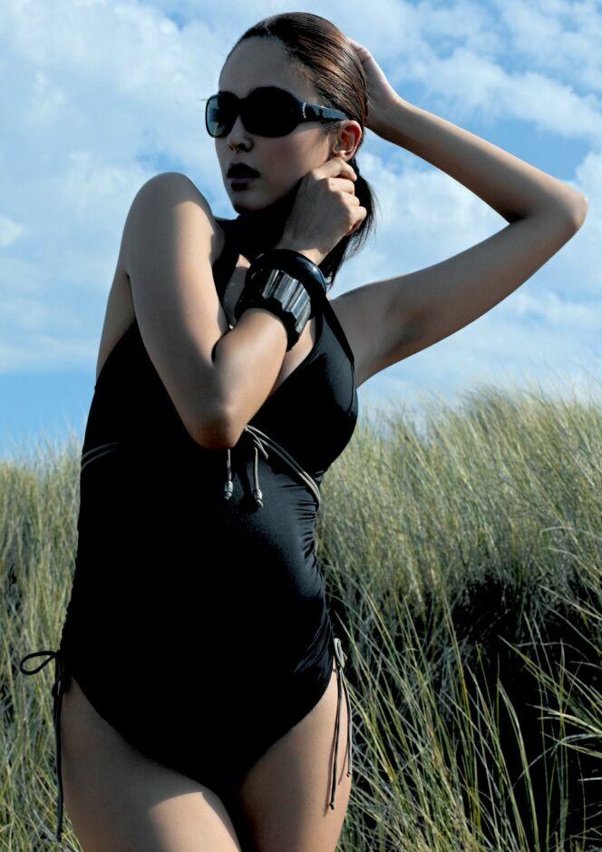 maillot de bain grossesse une pi ce noir calypso cache coeur 2013. Black Bedroom Furniture Sets. Home Design Ideas