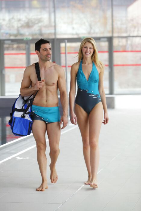 """Maillot de bain homme """"Wave"""" - Swind, collection 2013/2014<span class=""""normal italic petit"""">© Swind</span>"""
