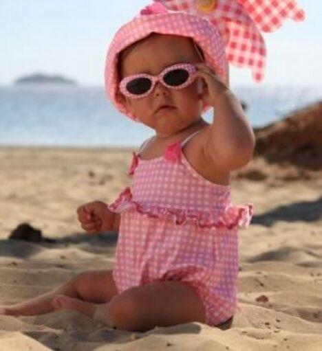 """Maillot de bain pour bébé fille une pièce Pearl<span class=""""normal italic petit"""">© Archimède</span>"""