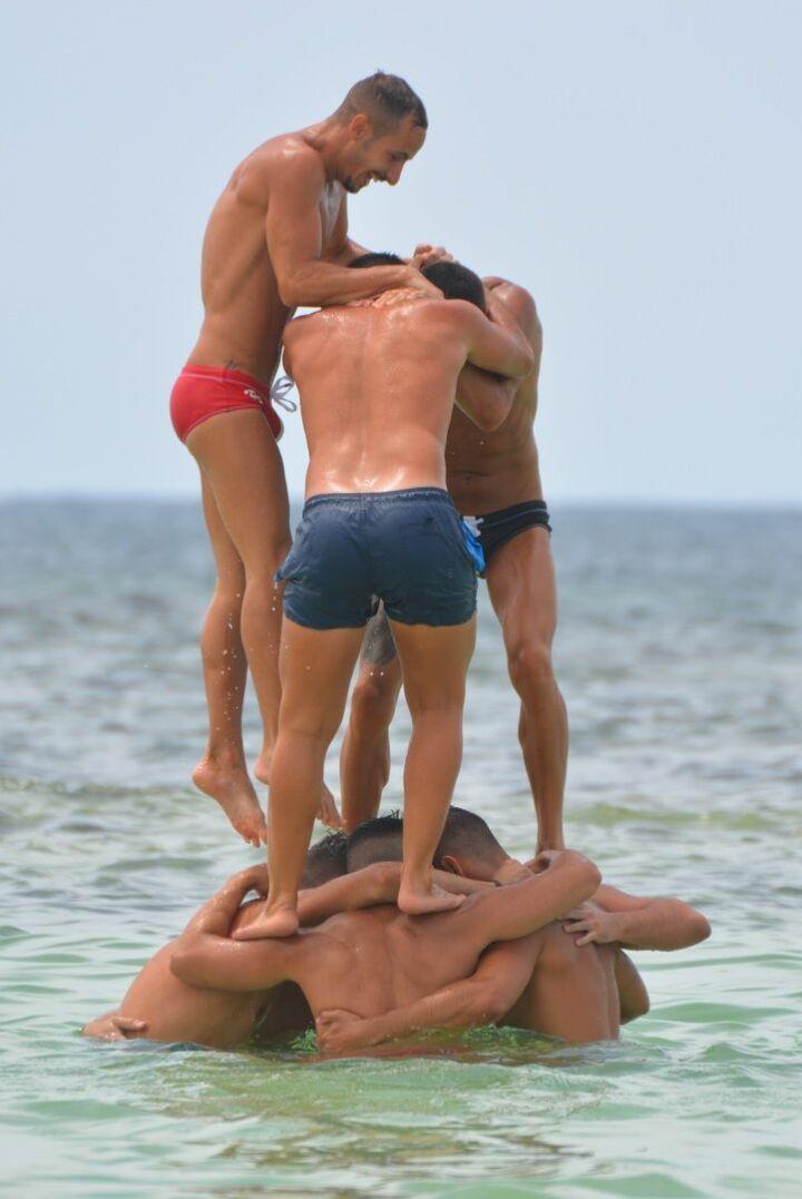 2 maillot de bain homme-natation-SLIP-Piscine-Mer-Plage-short-boxer-short bain